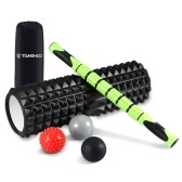 TOMSHOO Portable 6-in-1 Fitness Massage Roller Kit