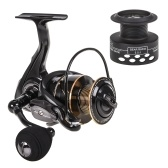 Spinning Fishing Reel 13BB + 1 rodamiento de bolas Metal Spinning Reel Boat Rock Fishing Wheel con carrete adicional