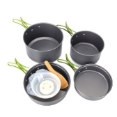 Outdoor Portable Cooking Pot for 2-3 Persons Bowl Pan Set