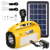 Solar Generator Lighting System Port  with FM Radio Solar Panel LED Lights