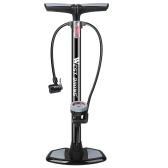 WEST BIKING 180PSI Pompa a pedale per bicicletta Pompa ad alta pressione con manometro Pompa di gonfiaggio verticale