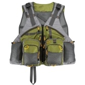 Jaqueta de pesca com mosca com vários bolsos Colete colete de malha ao ar livre pacote colete jaqueta