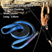 23KN 16mm 120cm/3.9ft Rope Runner Webbing Sling Flat Strap Belt for Mountaineering Rock Climbing Caving Rappelling Rescue Engineering