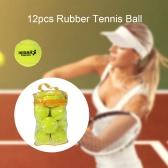12PCS теннис Обучение Бал практика Высокая устойчивость Обучение Прочный теннисный мяч Обучение Мячи для начинающих конкуренции