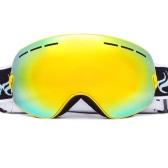 Взрослый Лыжный спорт Катание на коньках Защитные очки Защита от ультрафиолетовых лучей Anti-туман Wide Сферический PC объектива против скольжения ремень Шлем Совместимость