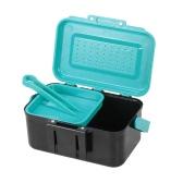 Señuelo de la pesca portátil caso de caja de señuelo cebo vivo Hook realizacion Lombriz Caso cintura caja de pesca