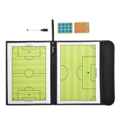 Magnetico calcio allenatore bordo cancellabile pieghevole Tattiche di calcio Coaching Board Appunti Plate Book Set con penna