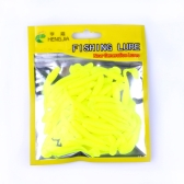 50PCS Soft Lure T-Tail Fish Soft Bait Soft Baits Artificial Blackfish Striped Bass Fishing Gear Tackles Spinning Tools