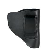 Izquierda Portátil ligero de caza del sostenedor del engranaje del bolso de cuero oculto Carry Holster Bag con Clip