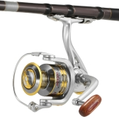 12 BB Spinning Fishing Reel 5.1: 1 Gear Ratio Fishing Reel para River Lake Sea Fishing