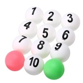 12pcs numerate palle da ping pong
