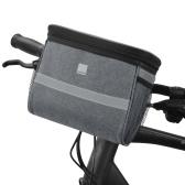 Сумка на руль велосипеда Передняя корзина для велосипеда с сетчатым карманом Изоляция для холода и тепла Велоспорт Передняя сумка для хранения Сенсорный прозрачный чехол для телефона