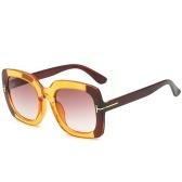 ファッション女性スクエアフレームサングラスUV400保護レンズ二重色サングラス女性メガネシェード