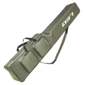 Two Layer 130cm Fishing Rod Reel Bag Fishing Pole Gear Tackle Tool Carry Case Carrier Travel Bag Storage Bag Organizer Fishing Cover Bag