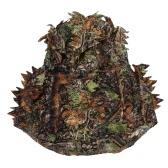 Camuflagem frondosa Caça Ghillie capa frondosa verde Cabeça líquida eyehole Abertura e teste padrão da folha