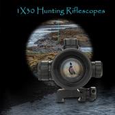 1X30 táctico Reflex Red Dot vista del alcance Mira telescópica óptica rápida Separar Riser Montaje de la lente de lanzamiento Cubiertas montaje del carril de Caza Spotting