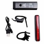 USB аккумуляторная велосипедная подсветка Набор интеллектуальных датчиков фары и красных фонарей водонепроницаемые предупреждающие огни для наружного Велоспорт