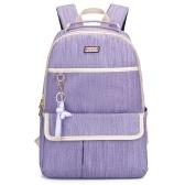 Zaino da donna con borsa da spalla per laptop con portachiavi per viaggi universitari