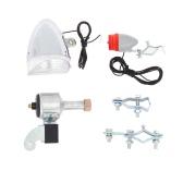 Luces de la bicicleta kit del sistema de seguridad de la bici delantera trasera de la linterna de luz trasera No necesita pilas