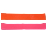 2PCS Sports Resistance Exercise Loop Bands Set Elastic Band Set para piernas y entrenamiento de fuerza