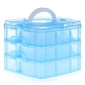 3 Layer Stack Fishing Tackle Utility Box Gancho señuelo Gancho Giratorio Accesorios Estuche Caja de almacenamiento
