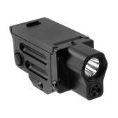 220 lúmenes de caza táctica linterna LED Red Laser arma luz Mini vista accesorios
