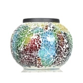 Multi-color LED Light Color Changing Solar Powered Mosaic Glass Ball Light