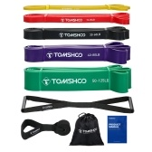 TOMSHOO 5 Packs Pull Up Assist Bands Set