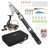 Portable Fishing Rod and Reel Combo