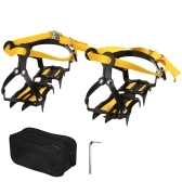 10 Spikes Crampons Stainless Steel Crampons with Strap Skidproof Ice Snow Grips