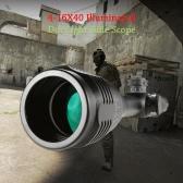 4-16X40 tacticle caccia esterna cannocchiale impermeabile antiurto Fogproof Long Range illuminato Mirino tubo