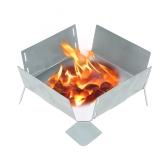 Piastra porta potenziometro portatile pieghevole in acciaio inox con bruciatore a combustibile solido con bruciatore ad alcool
