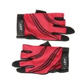 LEO 1 paio di pesca Guanti traspirante antiscivolo 3 dita dei guanti di pesca Outdoor Sport Ciclismo campeggio corsa