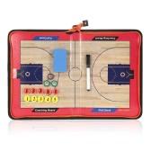 Magnetic Basketball Coach Board Стимулируемая складная тактика Коаксиальная доска Clipboard с молнией
