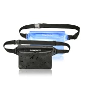 TOMSHOO 2 Pack Outdoor Sports Waterproof Pouch Dry Bag Case Waist Fanny Pack for Beach Kayaking Fishing Boating Swimming