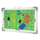 Magnetic Football Coaching Board Erasable Aluminum Soccer Coach Tactics Strategy Book Set with Pen Clipboard Teaching Equimpment