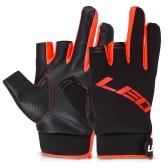 1 par guantes de pesca medio dedo guantes antideslizantes 3 dedos cortados guantes de pesca guantes sin dedos mitt equipo de pesca