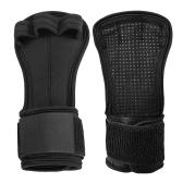 1 paio di guanti per sollevamento pesi guanti per allenamento trasversale rinforzo per mani con involucri per il polso Protezione per le mani degli uomini