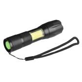 Torcia LED a 4 modalità torcia telescopica con zoomable impermeabile a LED per la caccia di campeggio
