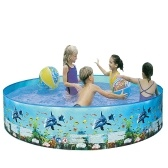 Портативный плавательный бассейн из жесткого пластика без инфляции