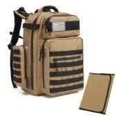 Открытый рюкзак Molle с ковриком Рюкзак для треккинга с портом для зарядки USB Изолированные боковые карманы для кемпинга Туризм Трекинг Альпинизм