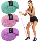 3PCS Sports Exercise Resistance Loop Bands Set Elastic Booty Band Set with Carry Bag for Yoga Home Gym Training