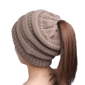 Cappello caldo di lana Fashion Knitting Winter Beanie Cap Cappelli di colore Pure Cozy Cozy per le donne Copricapo rigonfi