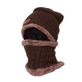 Conjunto de bufanda de gorro de punto cálido