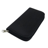 Portable Memory Cards Storage Bag Pouch Holder Zippered Carrying Case Wallet Organizer for CF/SD/SDHC/MS/DS Card