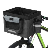 Cesta de bicicleta dobrável cesta removível Pet cesta de bicicleta