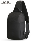 MARK RYDEN Portable USB Charge Anti-Theft Contrast Color Man Chest Pack
