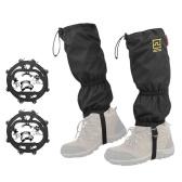 Gaiters Crampons Set Waterproof Snow Leg Guard Skidproof Stainless Crampon