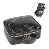 Bolsa de maquiagem portátil bolsa de viagem de mármore