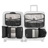 7 PCS Travel Bagagem Embalagem Bag Set